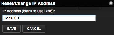 Zenoss change IP dialog