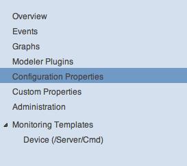 Zenoss Device configuration properties