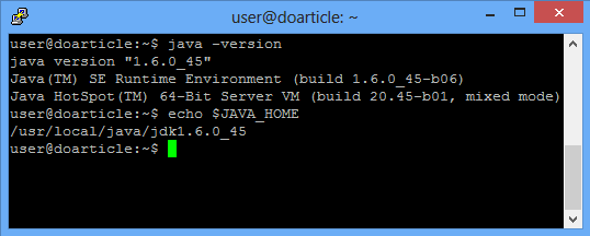 If Java was installed properly, you should see this