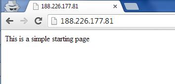 Starting Page