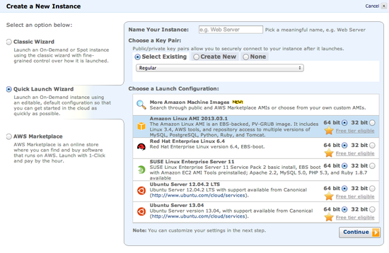 Amazon EC2 Launch Instance