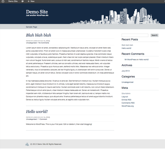 WordPress Blog on Linode Server