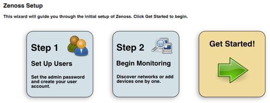 Zenoss Setup page