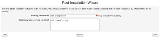 Post-Installation Wizard