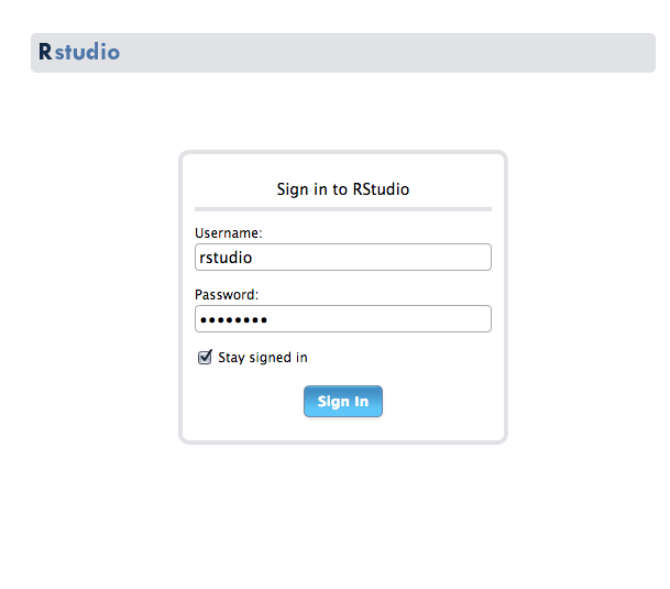 Rstudio Sign In